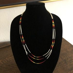 Jewelry - Indian seed bead necklace beautiful